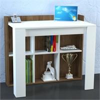 Dekorister Catori Çalışma Masası Beyaz-Ceviz