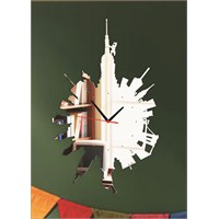 Newyork Saat Dekoratif Ayna