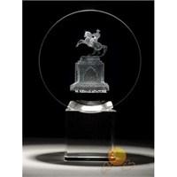 Üç Boyutlu Kristal Küre Atatürk Samsun Figürü