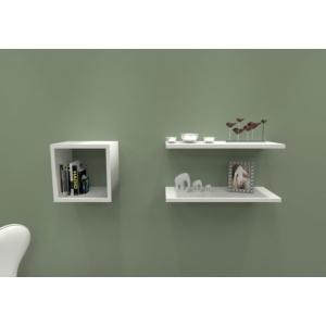 navdecoration work duvar rafı ve kitaplık - ceviz - beyaz
