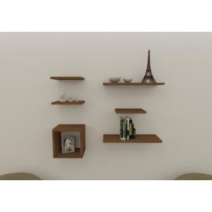 navdecoration business duvar rafı ve kitaplık - ceviz - ceviz