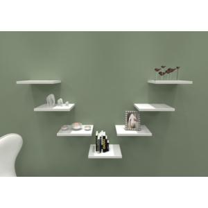 navdecoration elpim duvar rafı ve kitaplık - ceviz - beyaz