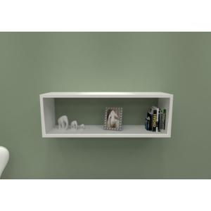 navdecoration pin duvar rafı ve kitaplık - ceviz - beyaz