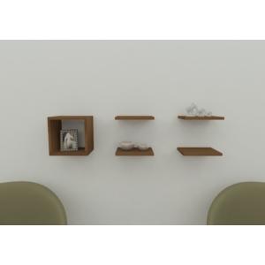 navdecoration ider duvar rafı ve kitaplık - ceviz - ceviz