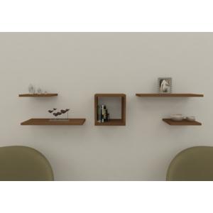 navdecoration pegasus duvar rafı ve kitaplık - ceviz - ceviz