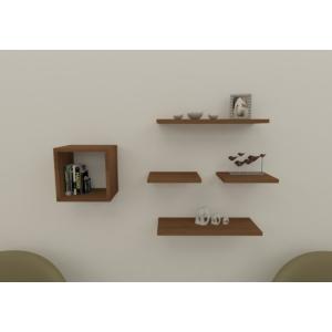 navdecoration texas duvar rafı ve kitaplık - ceviz - ceviz
