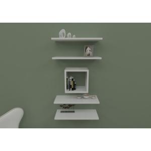 navdecoration sicilya duvar rafı ve kitaplık - ceviz - beyaz
