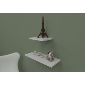 navdecoration jennifer duvar rafı ve kitaplık - ceviz - beyaz