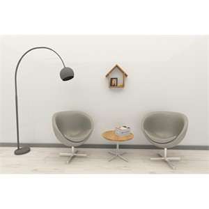 house estetik duvar rafı ve kitaplık - ceviz - ceviz