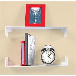 decormet parantez raf ve kitaplık seti beyaz