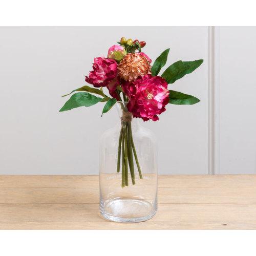 Madame Coco Dekoratif Yapay Çiçek Şakayık Papatya Hiperikum Buketi