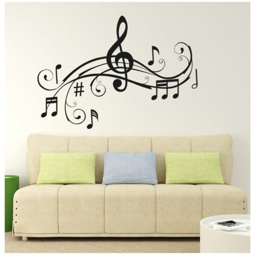 I Love My Wall Müzik Notalar (6) Duvar Sticker -2 ( Sticker hediyeli! )
