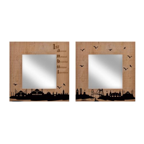 Tink İstanbul Silüeti Çiftli Ayna