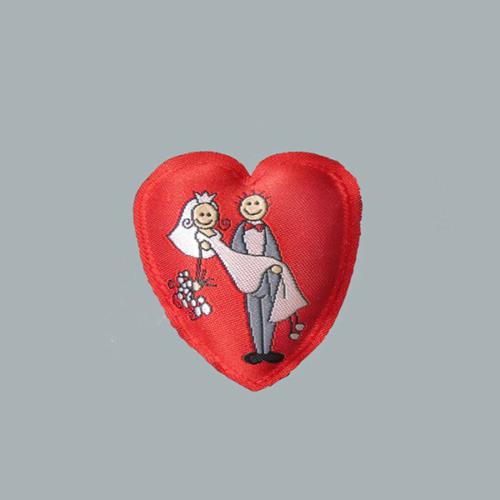 Tahtakale Toptancısı Kalpli Keçe Gelin Damat Resimli Yarım (10 Adet)