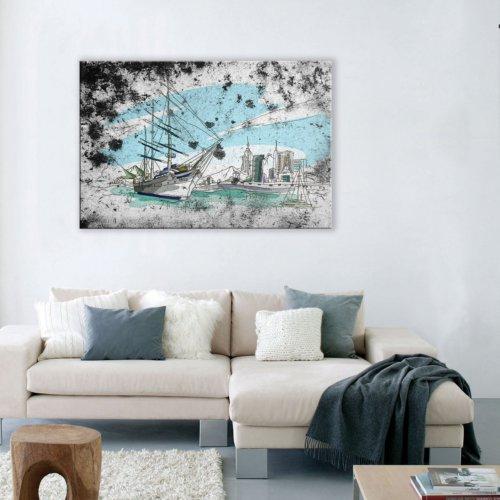 Albitablo Hayalet Gemi Yatay Tek Parça 150 x 100 cm