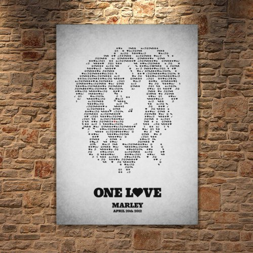 Albitablo Poster I Love Marley Kanvas Tablo
