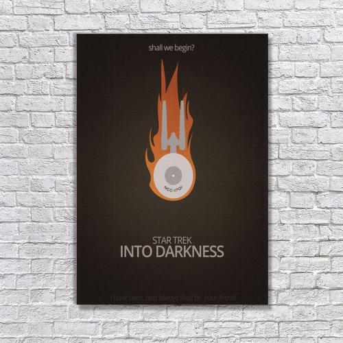 Albitablo Poster Love Into Darkness Kanvas Tablo