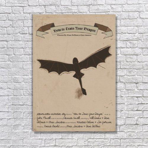 Albitablo Poster Love How To Train Your Dragon Kanvas Tablo