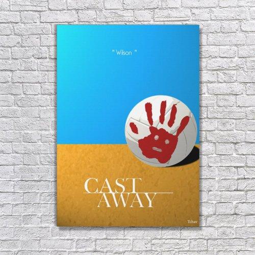 Albitablo Poster Love Cast Away Kanvas Tablo