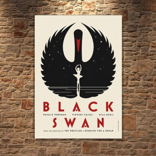 Albitablo Poster Love Black Swan 2 Kanvas Tablo