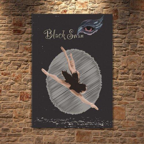 Albitablo Poster Love Black Swan 1 Kanvas Tablo