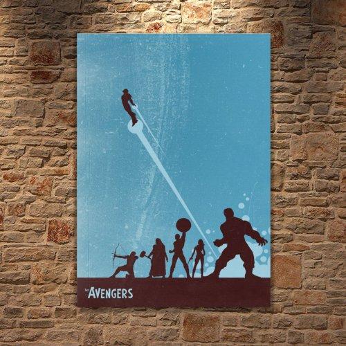 Albitablo Poster Love Avengers 2 Kanvas Tablo