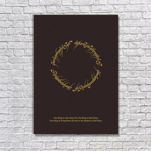 Albitablo Poster Yüzüklerin Efendisi Kanvas Tablo