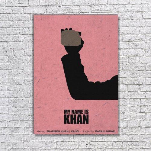 Albitablo Poster My Name Khan Kanvas Tablo