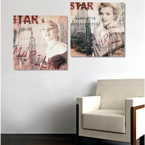 Tictac Design 2 Parçalı Kanvas Tablo - Marilyn & Marilyn6