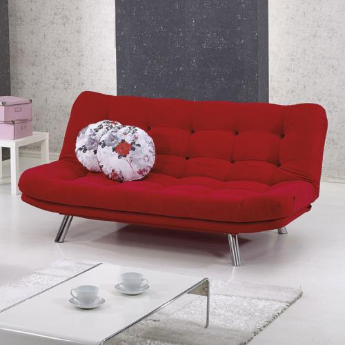 Futon Marmaris Üçlü Kanepe Kırmızı Relax