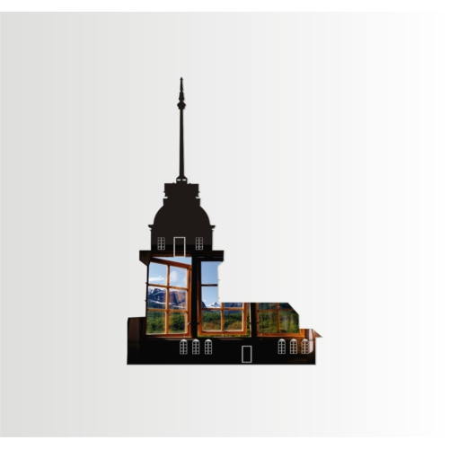 M3 Decorium Kız Kulesi Dekoratif Ayna
