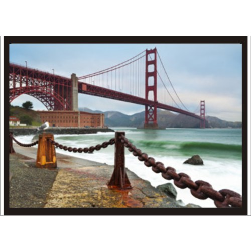 M3 Decorium Golden Gate Manzara Poster