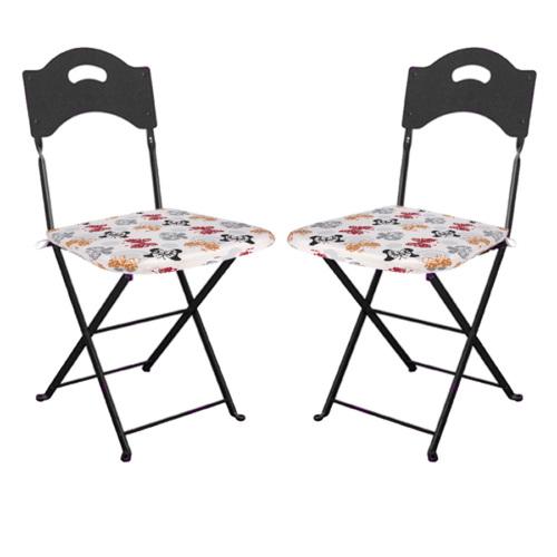 Aliz 2 li Sandalye Minderi - Kelebekler