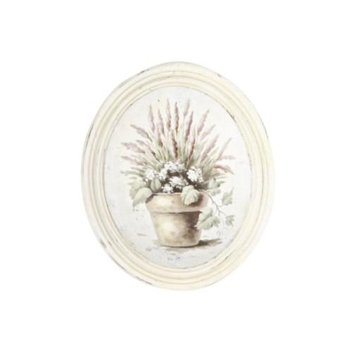 Artmosfer Saksıda Çiçekler Dekoratif Ahşap Tablo