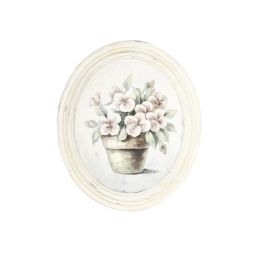Artmosfer Saksı Çiçeği Dekoratif Ahşap Tablo