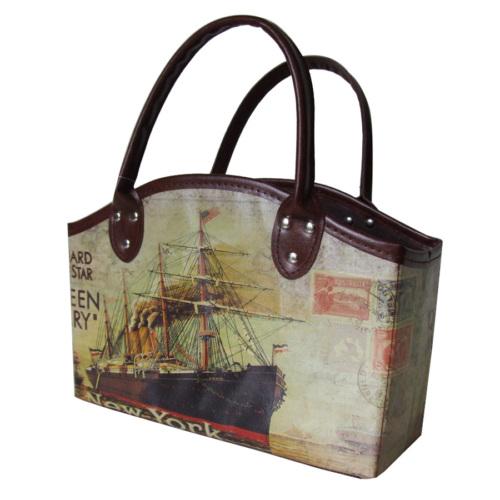 Giz Home Gazetelik Çift Saplı Gemi Küçük