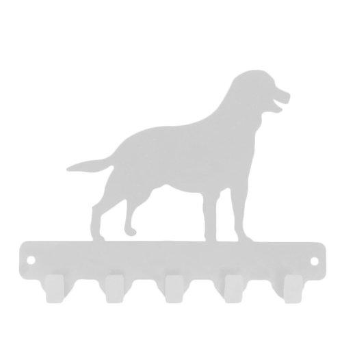 Chic Metal Köpek 4 lü Askı - Beyaz