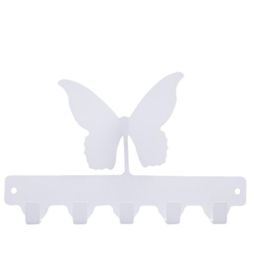 Chic Metal Kelebek 4 lü Askı - Beyaz