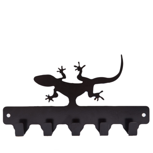 Chic Metal Kertenkele 5 li Askı - Siyah