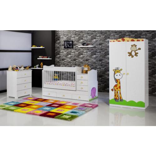 DeMobilya 2 Kapılı Fil Büyüyebilen Bebek Odası