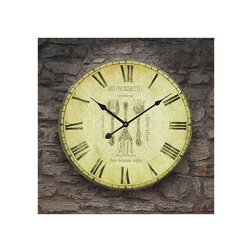Frank Ray 60 cm Mdf Duvar Saati Çatal Bıçak