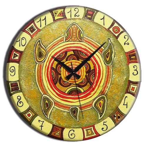 Frank Ray 60 cm MDF Wall Clock Yeşil