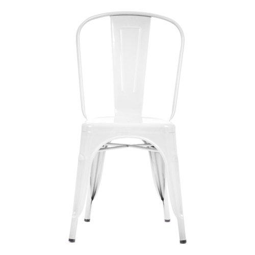 Şaziye Metal Tolix Kolsuz Sandalye- Beyaz