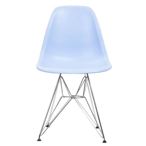 Şaziye Metal Eames İthal Sandalye Tel Ayak- Mavi