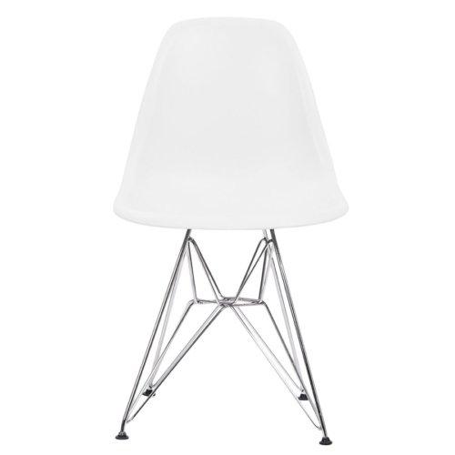 Şaziye Metal Eames İthal Sandalye Tel Ayak- Beyaz