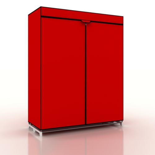 Prado Çantalı Bez Dolap Kırmızı