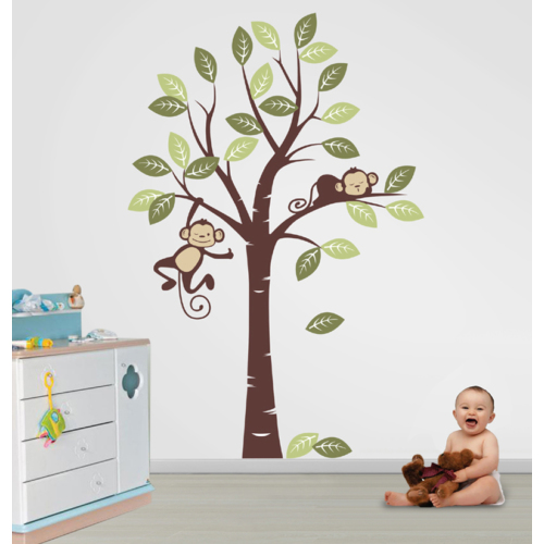 Besta Ağaçta Maymunlar Duvar Sticker
