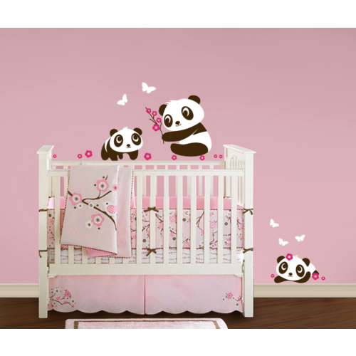Besta Pandalar Duvar Sticker