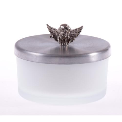 Miss Gaya Gümüş Kapaklı Cam Mumluk