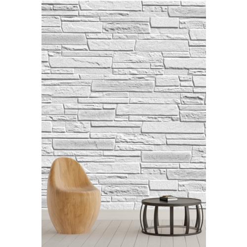Pidekorasyon Gri Taş Duvar Desenli Duvar Kağıdı - 2024